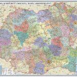 România și Republica Moldova. Harta administrativă. 350×500mm