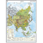 Asia. Harta economică. 1400×1000mm
