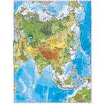 Asia. Harta fizică. 1400×1000 mm
