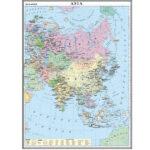 Asia. Harta politică. 1400×1000 mm