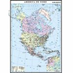 America de Nord. Harta politică. 1400×1000mm