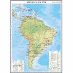 America de Sud. Harta economică. 1400×1000mm