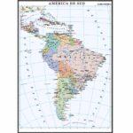 America de Sud. Harta politică. 1400×1000mm
