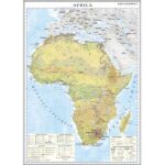 Africa. Harta economică. 1400×1000mm