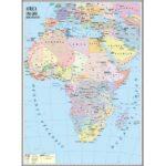 Africa. Harta politică. 1400×1000mm