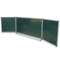 Tablă școlară magnetică triptică verde 3000x1000
