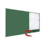 Tablă școlară magnetică monobloc verde